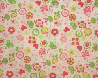 Little Hearts and Butterflies Polycotton - 58 Inches Wide