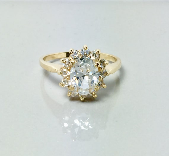 New 14k Solid Gold Ladies Ring -  Ladies Gold Prom