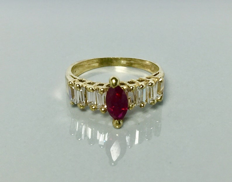 728395ff4c6a9b New 14k Beautiful Solid Gold Ring Ladies Ruby Ring | Etsy