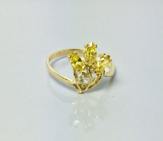 New 14k Solid Gold Ladies Ring - Gold Rings For Wo