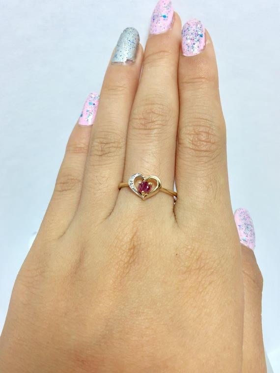 Friendship Rings Heart Rings Engagement Rings 14k Solid Gold CZ Ring For Women Promise Rings Pinky Rings For Women