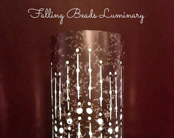 Mercury Glass LUMINARIES made from Copper, Gold, or Rose  Gold Foil Cardstock • Paper Party Decor • Wedding Centerpieces  • Special Events