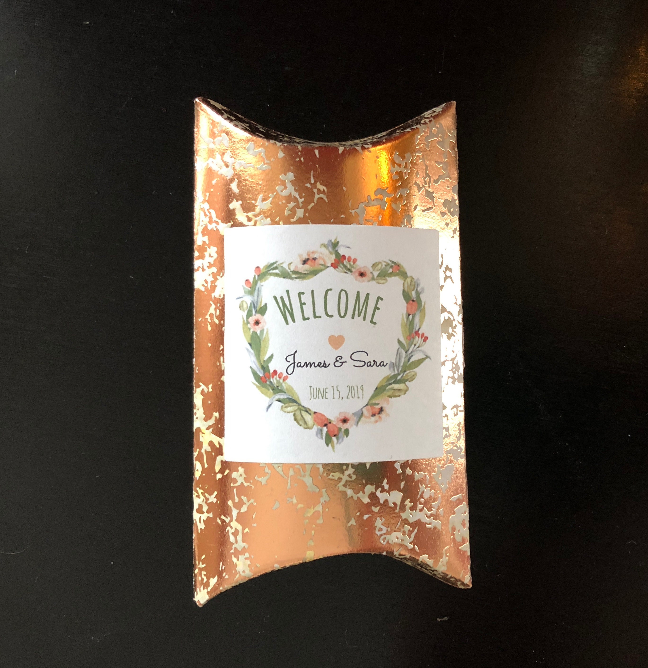 Fall Favor Boxes Copper Foil Wedding Favor Boxes Custom Wedding