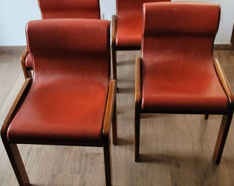 """4 chairs on the model """"Monk"""" by Tobia Scarpa. Design chairs."""