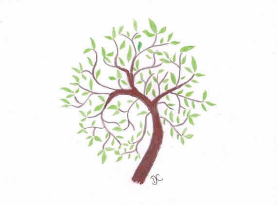 Baum Des Lebens Original Bleistift Zeichnung Plus Limited Etsy