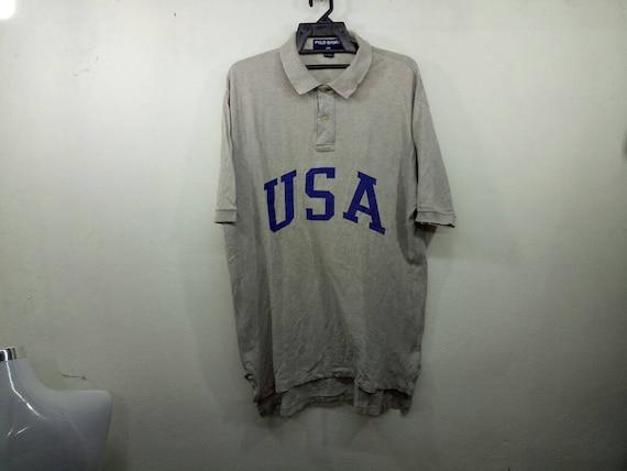 Rare!! Polo Sport Ralph Lauren Spellout USA  Large