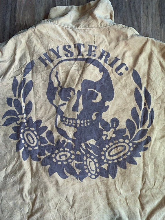 Hysteric Glamour Bowling Shirt Button Down Two Pocket Big Printed Skull M size Rare