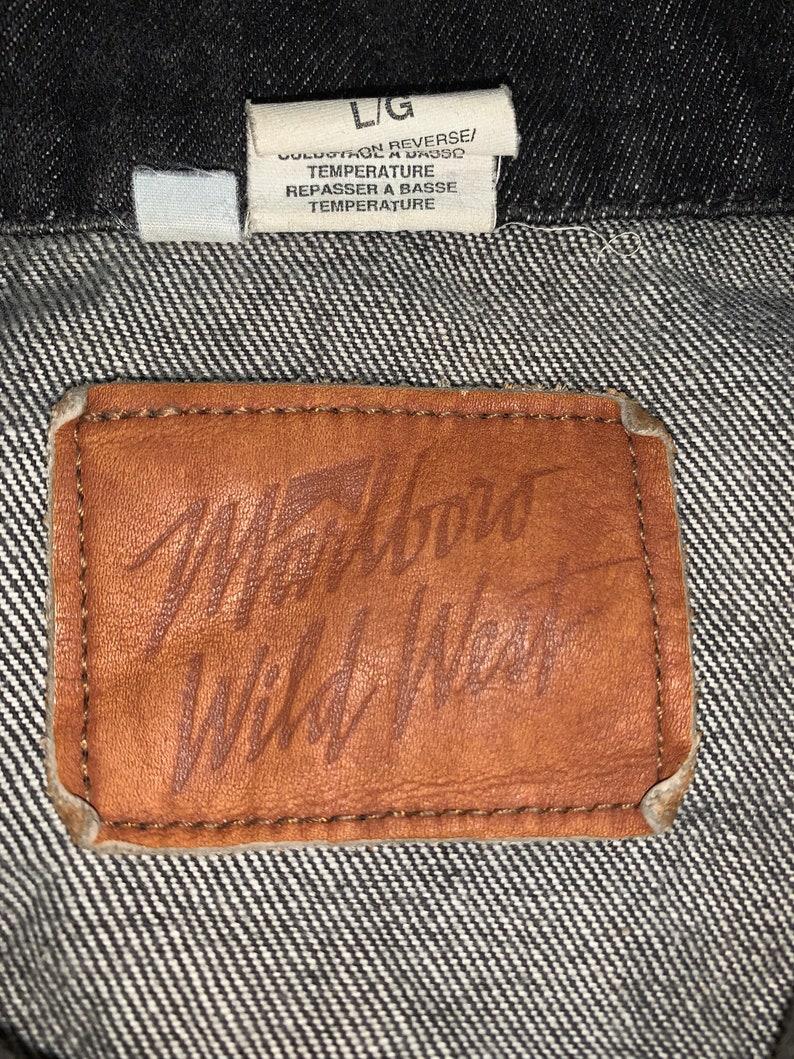 Vintage Marlboro Wild West Trucker Jacket Big Printed L size