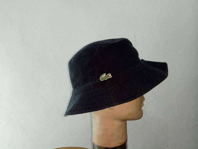 51d87d34d4c Vintage Lacoste Bucket Hats Riversable Medium