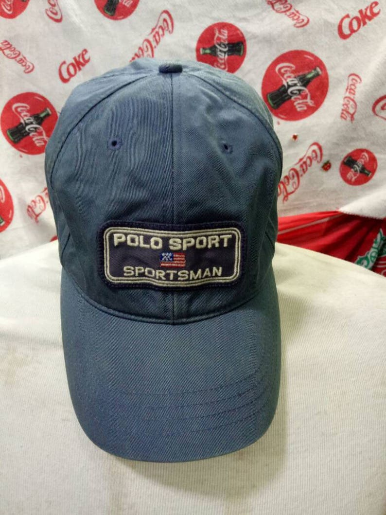 70cb4e038 Vintage Polo Sport Sportsman hat 6 panel with patch Polo Sportsman Rare