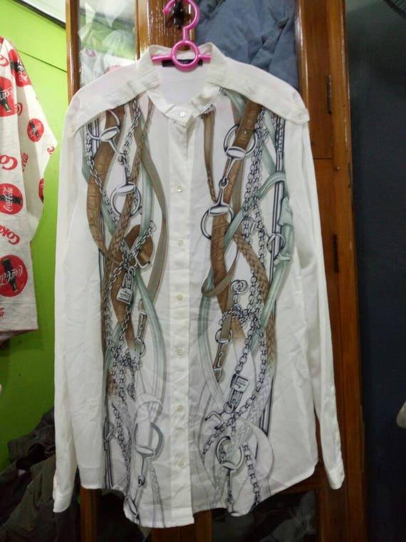 Gucci Baroque blouse white blouse classic secretar