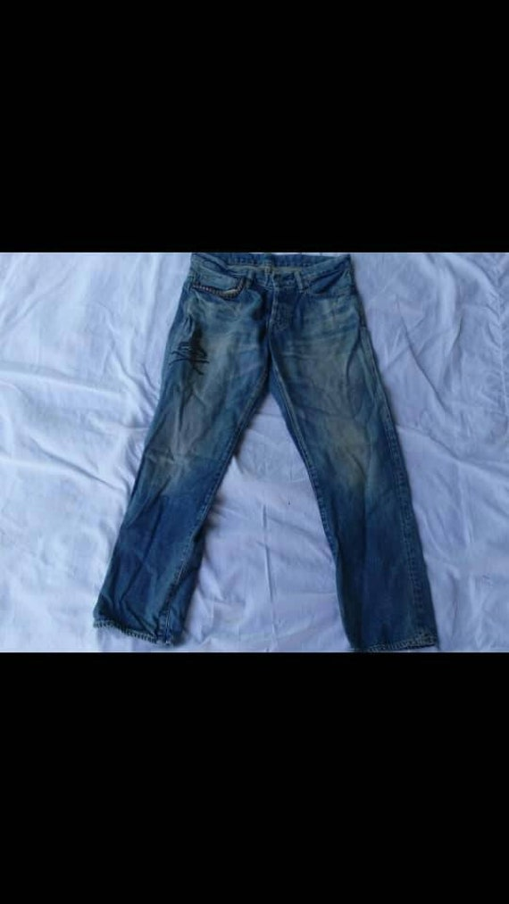 Rare!! Hysteric Glamour Selvedges Jeans Leather Pa