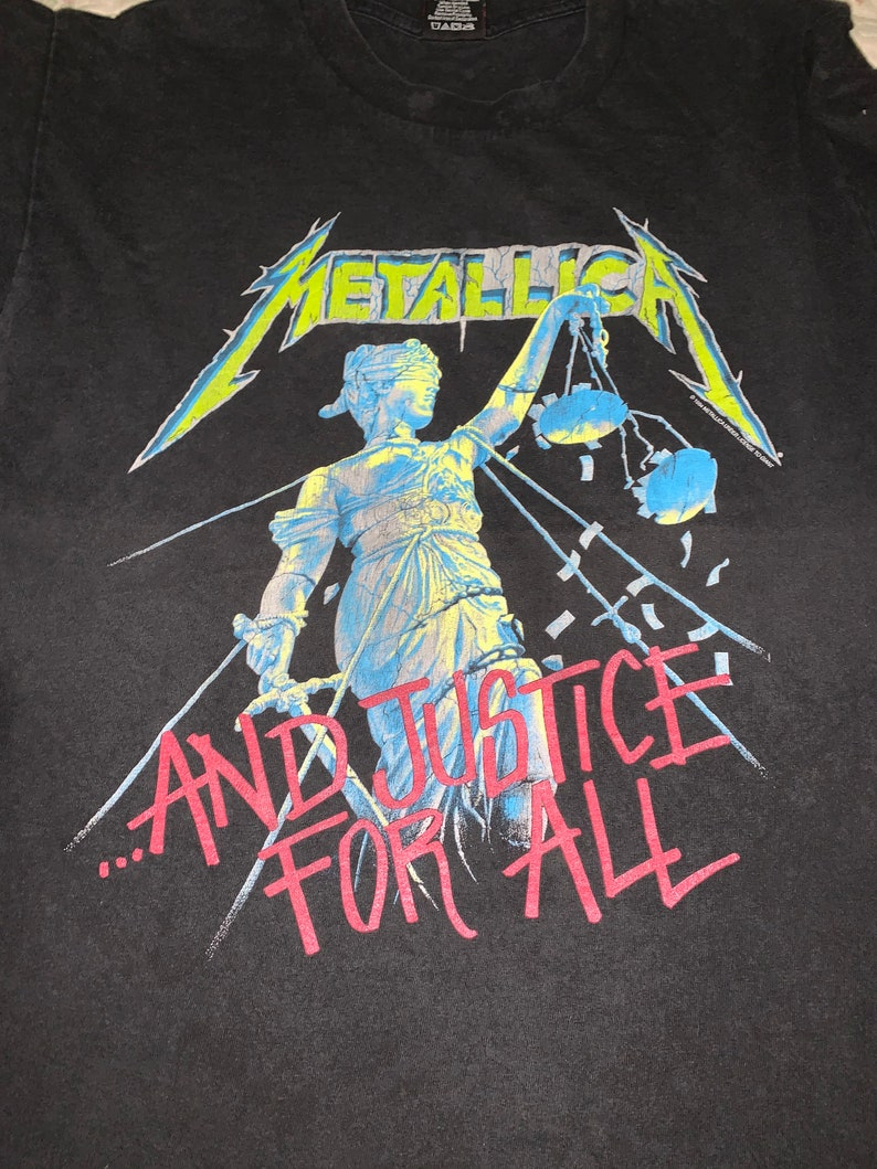 Metallica Justice For All Hammer Of Justice Crushes You Pushead Design 1994 Underlicensed To Giant Heavy Metal Band T-shirt L Rare!