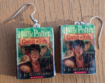 Harry Potter and the Goblet of Fire book Earrings
