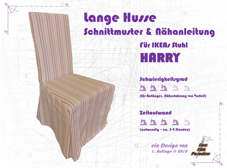 Harry v Ikea LangPattern & ebook/sewing instructions Husse image 0