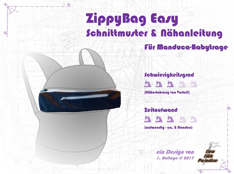 ZippyBag Easy-ebook/sewing instructions  pattern image 0