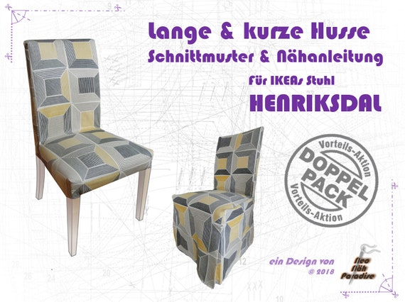 HENRIKSDAL Twinpack sewing patterns & ebook couture instructions couverture Coussin housse de chaise