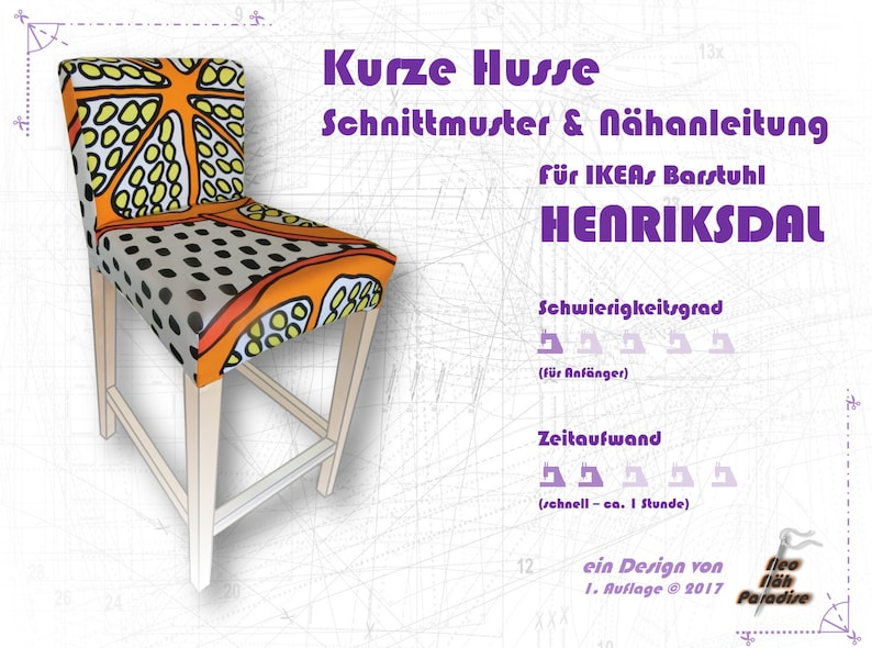 Henriksdal Barstool From Ikea Pattern Ebooksewing Etsy