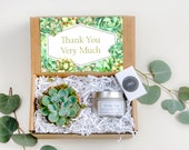 Thank You Very Much Succulent Gift Box Soy Candle Gift Gift Thank You Gift Succulent Gift Box Soy Candle Terra Cotta Pot