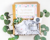 My Life Would Succ Gift Box Best Friend Gift Send a Gift Box Birthday Gift Box Just Because Gift Face Planter Succulent Soy Candle