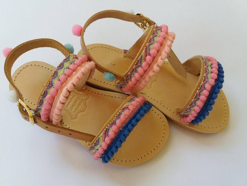 ed9b138c5ae Kids sandals  Baby Kids Gladiator sandals  Leather Sandals