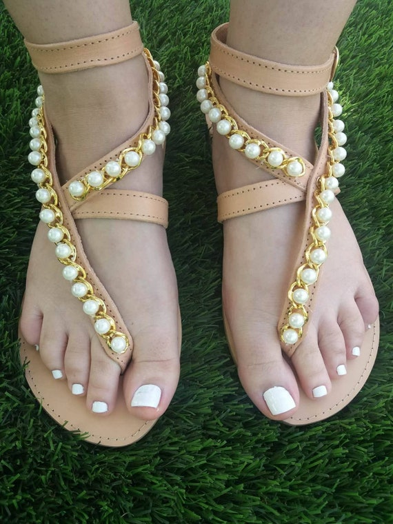 Wedding Bridal sandals Pearl sandals leather sandals Embellished sandals sandal Wedding Luxurious Handmader shoes shoes ANGELIQUE xFXng