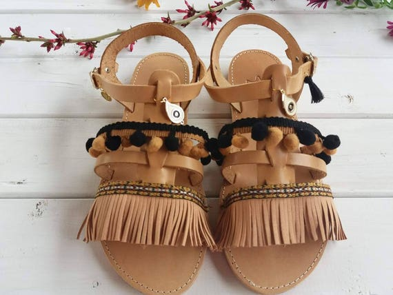 Bohemian Gladiator sandals Women's Ancient Sandals Leather Flat Sandals Sandals Greek sandal ARIADNE Sandals rf8Bqr