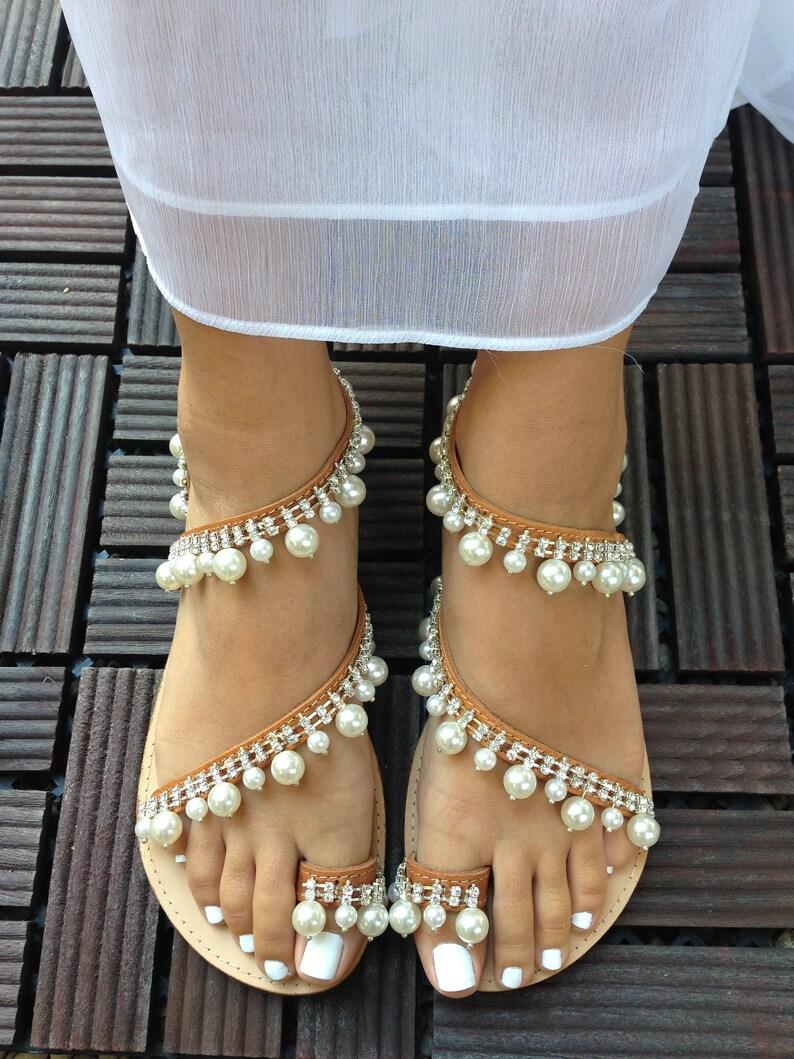 de8dd8a71d7 Wedding sandals  Wedding flat sandals  Greek Sandals  Leather