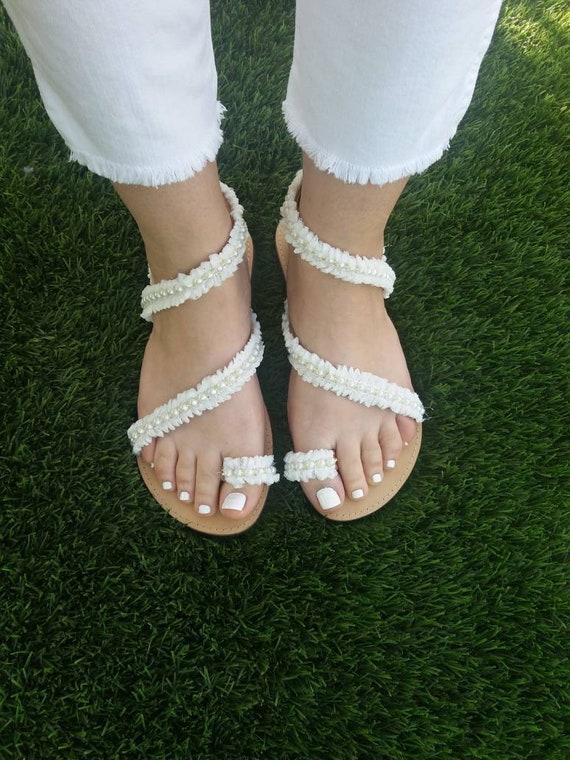 Pearl Handmade Greek Sandals EUDOXIA sandals Sandals Leather bridal romantic Luxury Sandals Sandals sandals Sandals Wedding sandals Tz1UUw