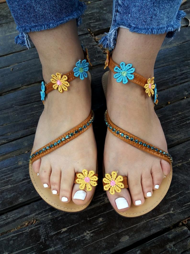 2deba1e45396a Leather sandals/ Festival sandals/ Hippie Sandals/ Boho sandals/ Greek  Sandals/ Handmade to order sandals/ CASSIOPEIA