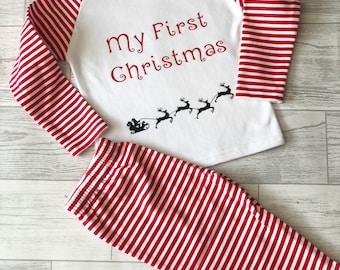 my first christmas pyjamas