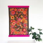 Tea Towel Holder - Colourful Acrylic Magnetic Frame Set - Keep-oh Frilly - Laser Cut Magnetic Art Holder - Australian Designed and Made