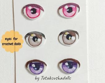 Safety Eyes Chromatophores Hand Painted 1 PAIR   Craft eyes ...   270x340