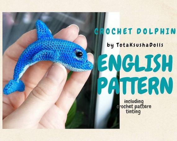 Dolphin Crochet Pattern Dolphin Amigurumi Pattern Crochet | Etsy | 456x570