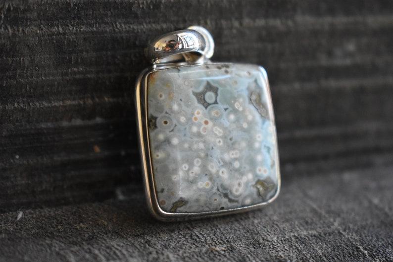 natural ocean jasper pendant,925 silver pendant,natural jasper pendant,ocean jasper pendant,jasper pendant,gemstone pendant