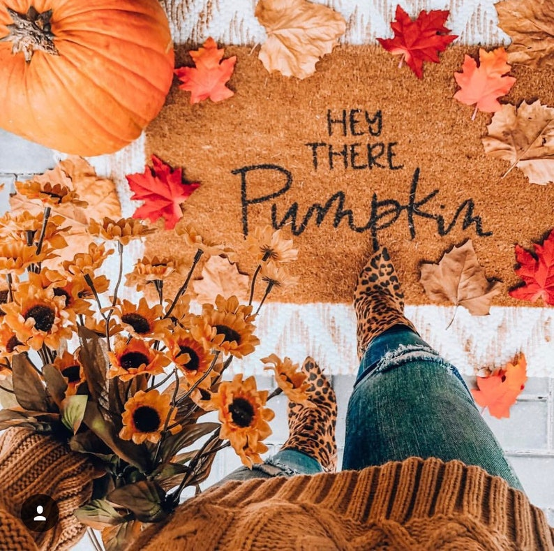 Hey There Pumpkin Door Mat  Hey There Pumpkin Front Porch image 0