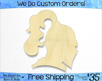 Silhouette Laser Cut #1975 Knight Helmet Wooden Cutout Shape