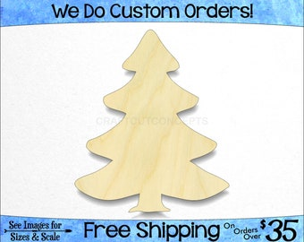 Plywood Christmas Decorations Blank Unpainted DIY Craft Shape Elf Boy 10 Pack
