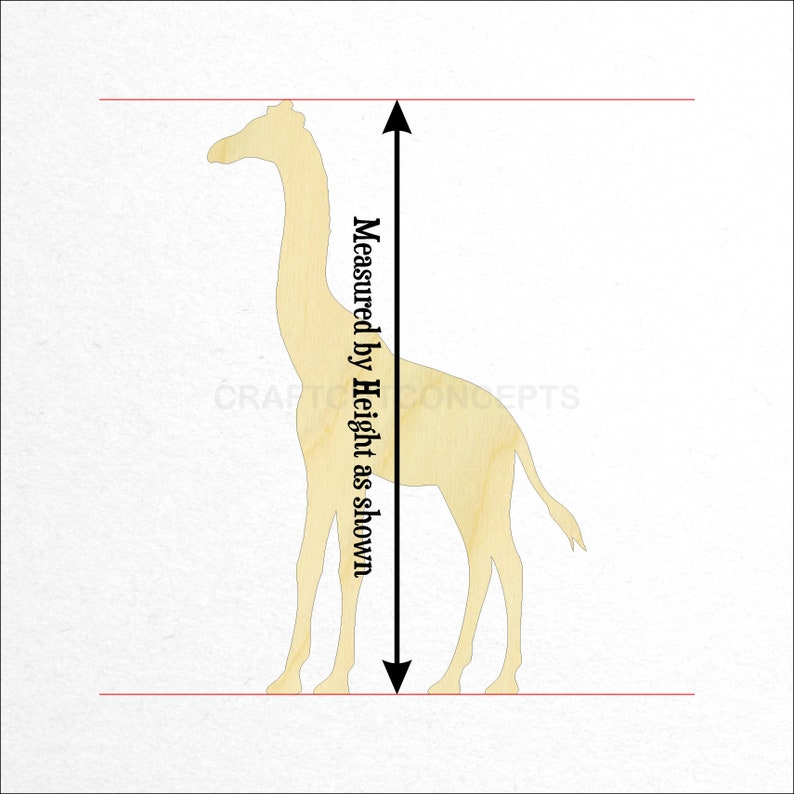 SO-0125 Unfinished Wood Cutout Shapes Zoo Safari Mobile Paint Pick Size African Wildlife Giraffe Shape *2-24 Large /& Small