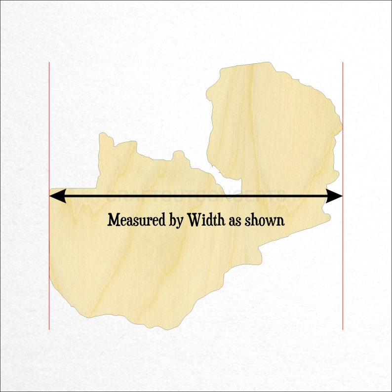 Unfinished Cutout Shapes Africa Republic Lusaka *2-24 SO-0100-13 Pick Size Large /& Small Zambia Country Cutout Eastern Europe