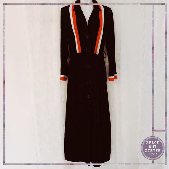 1970s Vintage Dynamic Stripe Cotton Robe
