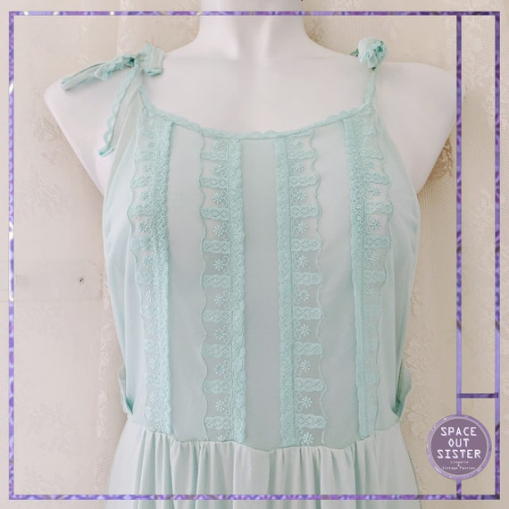 1980s Patrizia Mint Nightdress