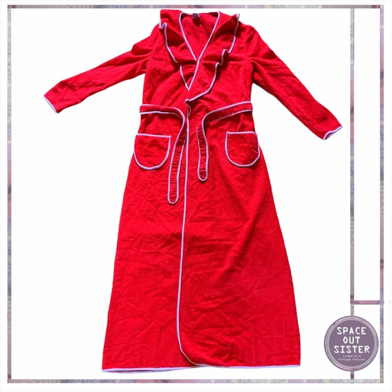 1970s Vintage Delfina Red Robe