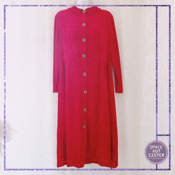 Vintage 80s JuStar Velvet Robe