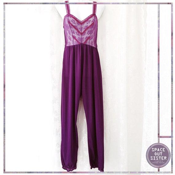 1980s Vintage Purple Passion Jumpsuit
