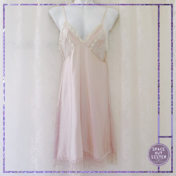 1920s Tea Rose Silk Slip