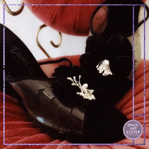 Vintage Wedge Circa 60s Boudoir Slippers