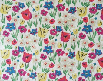 "Cath Kidston Half Yard Cotton Canvas Fabric 56"" Wide_Paradise Field DF044"