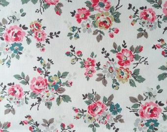 "Cath Kidston Half Yard Cotton Canvas Fabric 56""(145cm) Wide_Kingswood Rose DF071"