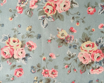 "Cath Kidston Half Yard Cotton Canvas Fabric 56""(145cm) Wide_Westbourne Rose DF077"